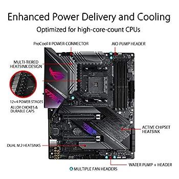 ASUS ROG Strix X570-E Gaming Scheda Madre AMD X570 ATX con PCIe 4.0, 2.5 Gbps, Intel Gigabit LAN, Wi-Fi 6 AX, 16 Fasi di Alimentazione, 2 M.2 con Dissipatori, SATA 6 Gb/s, USB 3.2 Gen2 e Aura Sync RGB