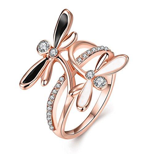 A8Hochzeit Ringe Sterling Silber Herz Prinzessin Krone,, 8 platin