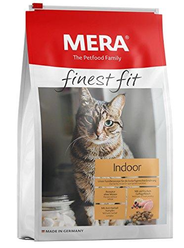 MERA finest fit Indoor Katzenfutter – Trockenfutter für Hauskatzen mit viel frischem Geflügelfleisch – Rezeptur ohne Weizen für die bedarfsgerechte Ernährung von Hauskatzen – 1 x 4 kg