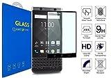 BlackBerry KEYone - Panzerglas Schutzfolie [3D Gebogen Full Deckung] 3D Curved Kante zu Kante Gehärtetem Glas Displayschutzfolie mit 9H Härte für BlackBerry KEYone / BlackBerry Mercury (Schwarz)