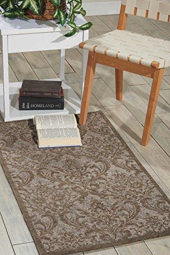 Nourison Teppich Mondrian 99446341419-Grau power-loomed Teppich, grau, 2ft 3Zoll x 3ft 9Zoll - Nourison Nourison Teppich Grau