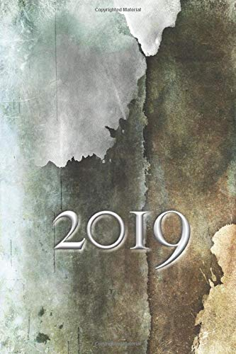 2019: Grunge Weekly Planner, Farmhouse Style With Weekly Spread Including Meal Planning and Shopping List -