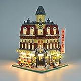 Kit di Illuminazione A LED per (Crea Cafe Corner) Compatibile con Il Modello Lego 10182 Mattoncini da Costruzioni (Non Include Il Set Lego)