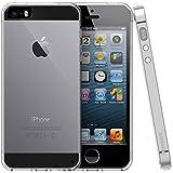 iPhone 5 5S SE Hülle - iHarbort Weich Gelee Gel TPU Silikon Schutzhülle iPhone 5 5S SE Hülle Case Cover transparent mit Displayschutzfolie,transparent