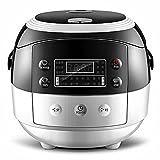 DHG Smart Reiskocher Multifunktionale Kleine Reiskocher Mini Hause 2L Liter,Schwarz und Weiß