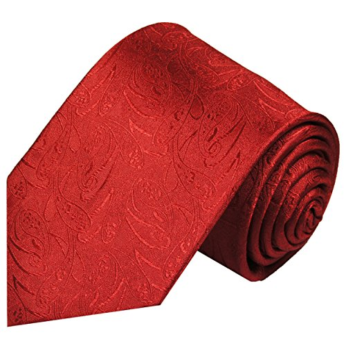 Preisvergleich Produktbild Paul Malone Rot Paisley XL-Krawatte 100% Seidenkrawatte (Extralang 165cm)