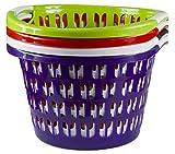Wäschewanne Wäschekorb Wäschesammler Korb Durchmesser 47 cm versch. Farben NEU