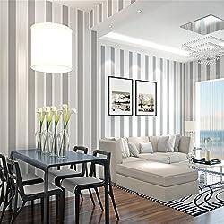 HY-Tv fondo de la pared, moderno y minimalista, las rayas verticales, tela no tejida, papel pintado, sala de estar, dormitorio, pasillo tv, Gris oscuro 90373