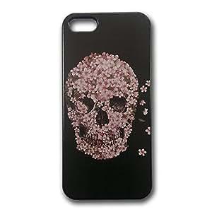 Hard Case Cover posteriore numerva per iPhone 5 e 5s a forma di teschio in kirsh Cover fiori timando kirsh fiori Skull - Spedizione gratuita
