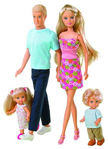 Simba 105738565 - Puppen Set Steffi Love Familie, XL