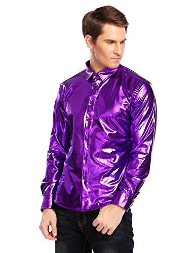 Coofandy Herren Hemd für Casual, Kleid Kostüm bronzierens regelmäßig fit Button - down - Langarm Freizeit Formale -XXL