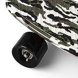 SportPlus Ezy Mini-Cruiser Skateboard, Camouflage Grün, 56 cm -
