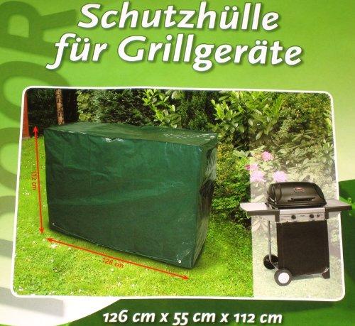 Schutzhülle für Grillgeräte Gartengeräte - witterungsbeständig etc. Abdeckhaube Abdeckung Plane 126 x 55 x 112 cm