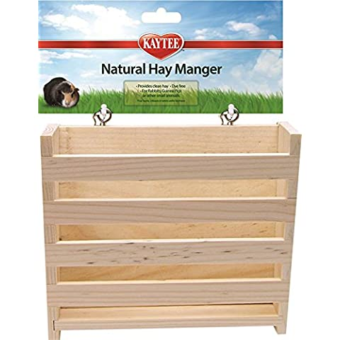 Kaytee Natural Wooden Hay Manger, Large by Super Pet