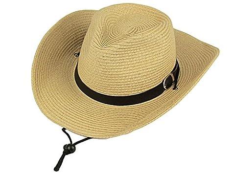 Mme Mâle Style Occidental Printemps Chapeau De Cowboy Et Crème