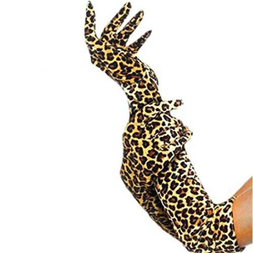 Gants longs - Collection léopard