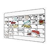 Weekly Familie Kalender Planer/Tag Organizer. Magnetische Trocken Abwischbare Kreidetafel Stil Hintergrund für Mom–39,9x 30cm weiß