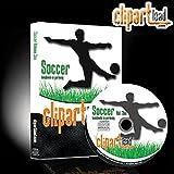"Details zu clipartload� Vektorgrafiken f. Schneideplotter ""Soccer Fu�ball Vol.1"" Airbushschablonen Bild"