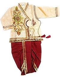 Jinie Baby Boy's Silk Cotton Blend Dhoti Kurta Pyjama Dress (Multicolour, 6-12 Months)