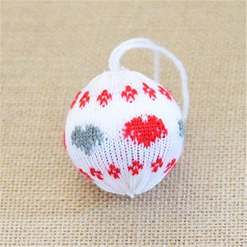 Prevently marca bright color 6cm a forma di fiocchi di neve palla dell' albero di natale ornamento appeso ciondolo party giardino decorazione, e