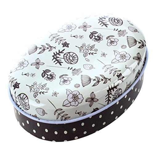 SODIAL(R) 1x creative mini European style Soap box shape candy storage box wedding favor tin box zakka cable organizer container household £¨style 5£©8 * 6.2 * 3 cm