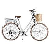 """Bicicletta Elettrica a Pedalata Assistita Da Donna 28"""" Brinke Golden Gate Lady Bianca"""