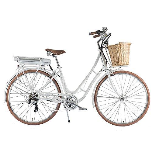 """Brinke Bicicletta Elettrica a Pedalata Assistita Da Donna 28\"""" 250W Golden Gate Lady Bianca"""