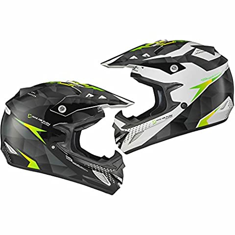 Shox MX-1 Shadow Motocross Helmet M Black White Green