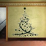 denoda Weihnachtsbaum aus Sternen - Wandtattoo Hellrosa 50 x 55 cm (Wandsticker Wanddekoration Wohndeko Wohnzimmer Kinderzimmer Schlafzimmer Wand Aufkleber)