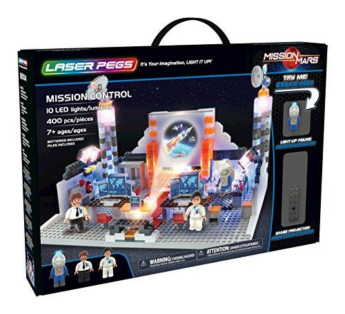 Laser Pegs 18004 Mission Control Spielwaren, Mehrfarbig