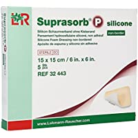 Suprasorb P Silicone Schaumverband non Border 15x15 cm, 5 St preisvergleich bei billige-tabletten.eu