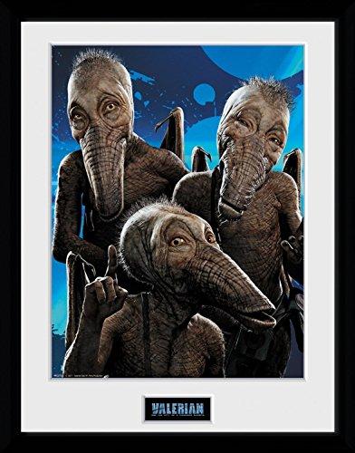 Preisvergleich Produktbild 1art1 106693 Valerian – Die Stadt der Tausend Planeten - Doghan Daguis Gerahmtes Poster Für Fans und Sammler 40 x 30 cm