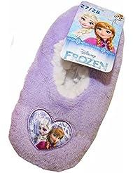Chaussons Fille Reine des Neiges Frozen Disney Fourré écusson Anna et Elsa
