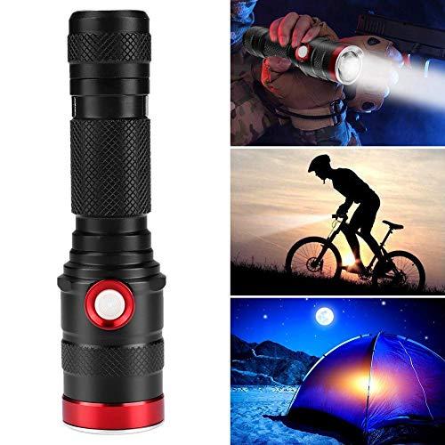 koulate LED-Superhelligkeits-Taschenlampe, USB-Aufladung Anti-Rutsch-Griff 1100 Lumen-Taschenlampe für zu Hause Jagdreiten