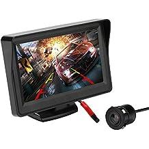 Kit de cámara y monitor de marcha atrás para automóvil, monitor LCD de 4.3 pulgadas Sistema de asistencia de estacionamiento de seguridad con cámara trasera y vista posterior (CL403KBM)