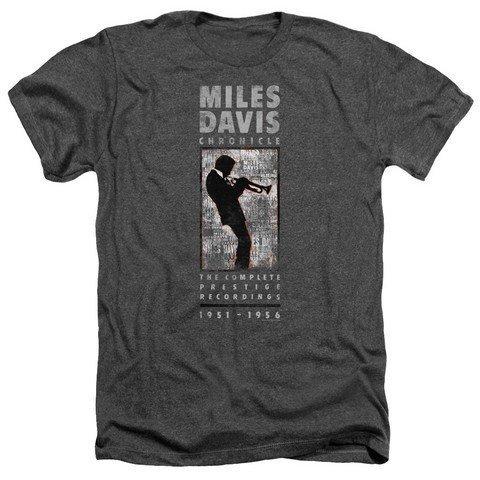 Trevco Concord Music Miles Silhouette Herren Heather Shirt XXL Grau