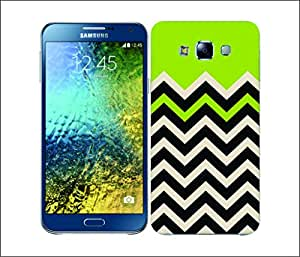 Galaxy Printed 1519 Block Chevron Lime Green Hard Cover for Samsung CORE 2