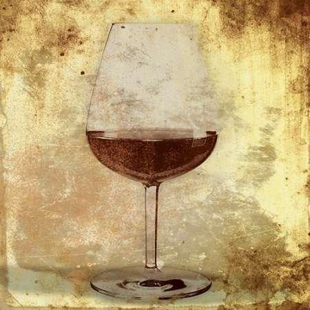 Fine Art Print–Wein Glas von a.d. Linien, 14 x 14