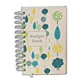 Organised Mum Budget Book. Monthly bill organiser and accounts book to keep track of personal finances. Pretty and sturdy budget organiser with pages to track home expenses and pockets for receipt storage.