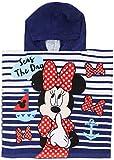 Disney Kinder Handtuch-Poncho mit Minnie-Maus-Design (Einheitsgröße) (Blaue Streifen)