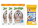 #8: Goofy Tails- Pedigree Dentastix Small Breed Dog Oral Care, 110 g Weekly Pack (7 Sticks) With Jerhigh Carrot Stix Dog Treats, 70 g (Pack of 3)
