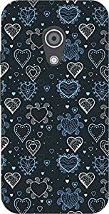 The Racoon Grip printed designer hard back mobile phone case cover for Moto G 2nd Gen. (Blue Growi)