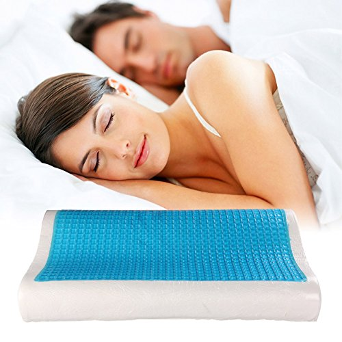 Kawachi Bamboo Cover Cool Gel Memory Foam pillow Head Sleeping Pillow Comfortable Support - Best Pillows for Neck Pain and Headaches-K359