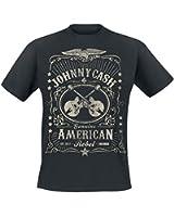 Johnny Cash American Rebel T-Shirt schwarz