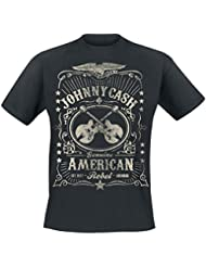 Johnny Cash American Rebel T-shirt noir