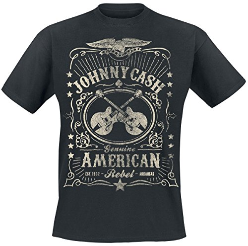 Johnny Cash American Rebel T-Shirt nero S