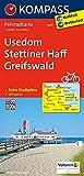Usedom, Stettiner Haff, Greifswald: Fahrradkarte. GPS-genau. 1:70000 (KOMPASS-Fahrradkarten Deutschland, Band 3023)