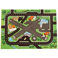 Be-Active Combo Airport + Roadway Road Playmat - A Fun Addition For The Bedroom, Playroom, Nursery Or Class Room!