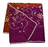 PEEGLI Frau Traditionell Hijab Stickerei Ethnic Vintage