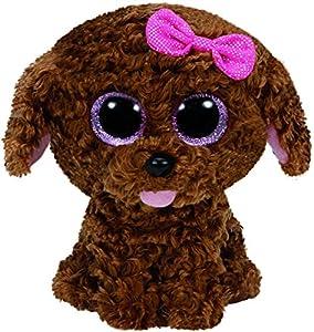 Ty- Perro Peluche, Juguete, Color marrón, 23 cm (United Labels Ibérica 37040TY)